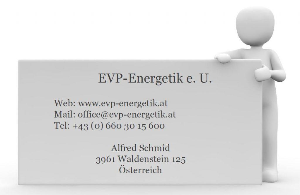 EVP-Energetik Kontakt. EVP-Wasserbeleber